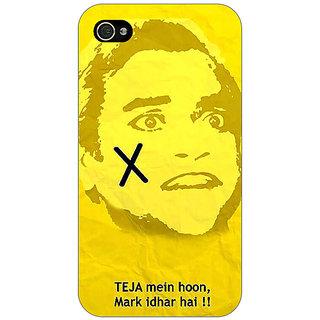 Jugaaduu Bollywood Superstar Andaz Apna Apna Teja Back Cover Case For Apple iPhone 4 - J11078