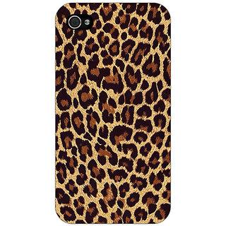 Jugaaduu Leopard Cheetah Pattern Back Cover Case For Apple iPhone 4 - J11387
