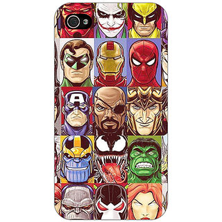 Jugaaduu Super Heroes and Villains Back Cover Case For Apple iPhone 4 - J11401