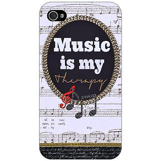 Jugaaduu Music Quote Back Cover Case For Apple iPhone 4 - J11402