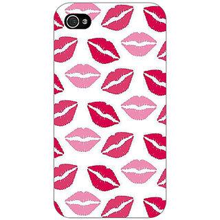 Jugaaduu Kiss Back Cover Case For Apple iPhone 4 - J11407