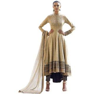Naksh Creation Beige Colour Khadi Designer Anarkali Suit