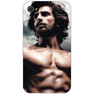 Jugaaduu Bollywood Superstar Ranveer Singh Back Cover Case For Apple iPhone 4 - J10950