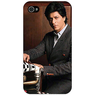 Jugaaduu Bollywood Superstar Shahrukh Khan Back Cover Case For Apple iPhone 4 - J10965