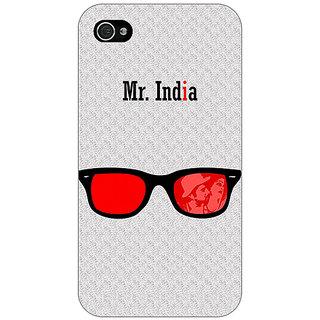 Jugaaduu Bollywood Superstar Mr. India Back Cover Case For Apple iPhone 4 - J11089
