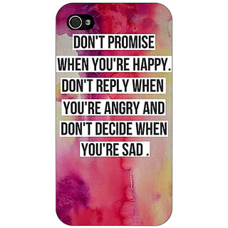 Jugaaduu Wise Quote Back Cover Case For Apple iPhone 4 - J11144
