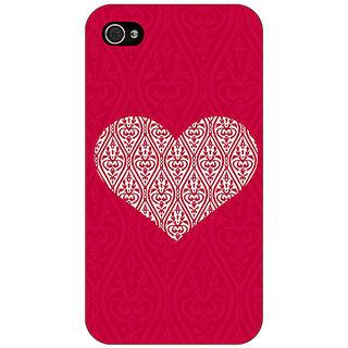 Jugaaduu Hearts Back Cover Case For Apple iPhone 4 - J11425