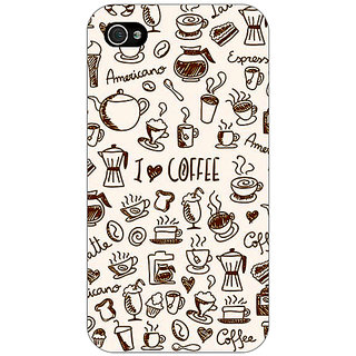Jugaaduu Coffee Love Back Cover Case For Apple iPhone 4 - J11430