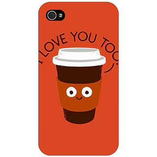 Jugaaduu Coffee Love Back Cover Case For Apple iPhone 4 - J11433