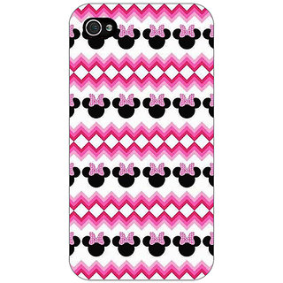Jugaaduu Minnie Mouse Pattern Back Cover Case For Apple iPhone 4 - J11435