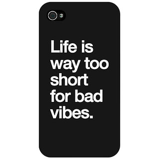 Jugaaduu Quote Back Cover Case For Apple iPhone 4 - J11477