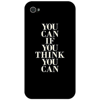 Jugaaduu Quote Back Cover Case For Apple iPhone 4 - J11480