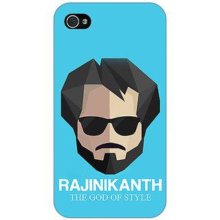 Jugaaduu Rajni Rajanikant Back Cover Case For Apple iPhone 4 - J11483