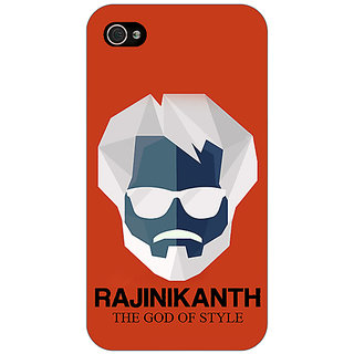 Jugaaduu Rajni Rajanikant Back Cover Case For Apple iPhone 4 - J11484