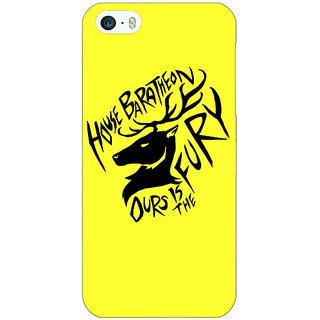 Jugaaduu Game Of Thrones GOT House Baratheon  Back Cover Case For Apple iPhone 5 - J20168