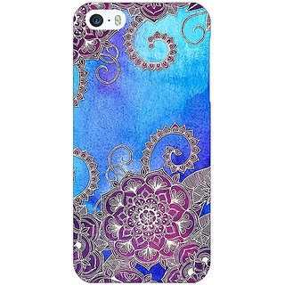 Jugaaduu Girly Floral Pattern Back Cover Case For Apple iPhone 5 - J20208