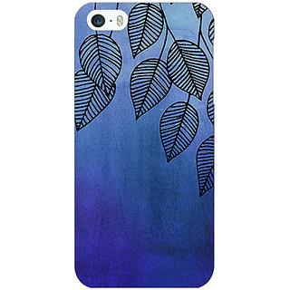 Jugaaduu Blue Leaves Pattern Back Cover Case For Apple iPhone 5 - J20218
