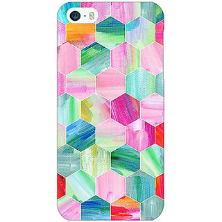 Jugaaduu Hexagon  Pattern Back Cover Case For Apple iPhone 5 - J20222