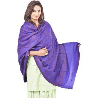 Weavers Villa Woolen Woven Purple Shawl WV578-PURPLE
