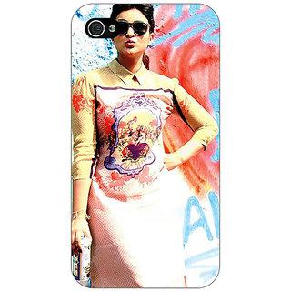 Jugaaduu Bollywood Superstar Parineeti Chopra Back Cover Case For Apple iPhone 4 - J10978