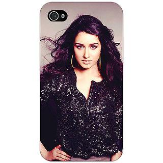 Jugaaduu Bollywood Superstar Shraddha Kapoor Back Cover Case For Apple iPhone 4 - J10980