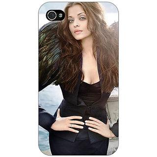 Jugaaduu Bollywood Superstar Aishwarya Rai Back Cover Case For Apple iPhone 4 - J11001