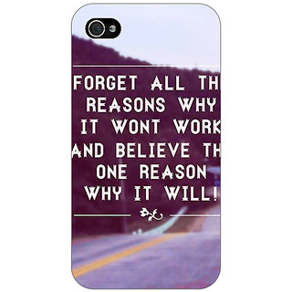 Jugaaduu Wise Quote Back Cover Case For Apple iPhone 4 - J11158