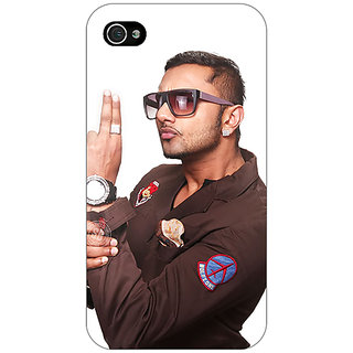 Jugaaduu Bollywood Superstar Honey Singh Back Cover Case For Apple iPhone 4 - J11183