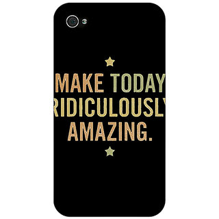 Jugaaduu Quotes Beautiful Back Cover Case For Apple iPhone 4 - J11192