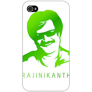 Jugaaduu Rajni Rajanikant Back Cover Case For Apple iPhone 4 - J11492