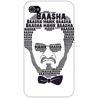 Jugaaduu Rajni Rajanikant Back Cover Case For Apple iPhone 4 - J11495