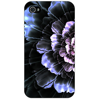 Jugaaduu Abstract Flower Pattern Back Cover Case For Apple iPhone 4 - J11512