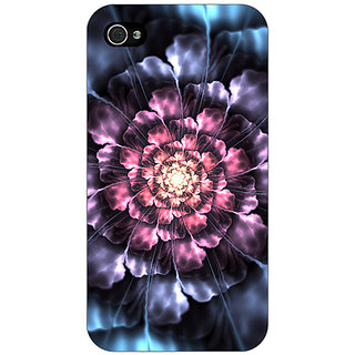 Jugaaduu Abstract Flower Pattern Back Cover Case For Apple iPhone 4 - J11514