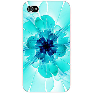 Jugaaduu Abstract Flower Pattern Back Cover Case For Apple iPhone 4 - J11526