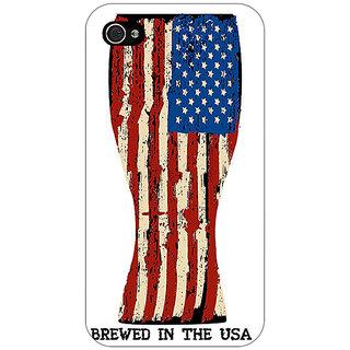 Jugaaduu USA Beer Back Cover Case For Apple iPhone 4 - J11213