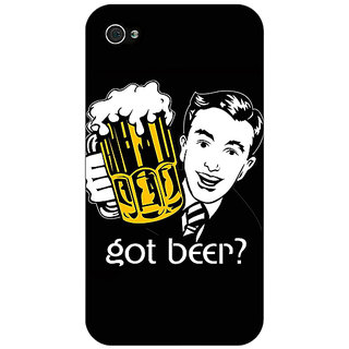Jugaaduu Beer Quote Back Cover Case For Apple iPhone 4 - J11251