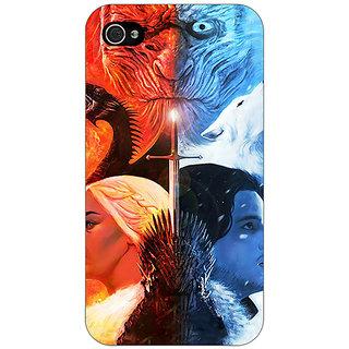 Jugaaduu Game Of Thrones GOT Khaleesi Daenerys Targaryen House Stark Jon Snow Back Cover Case For Apple iPhone 4 - J11542
