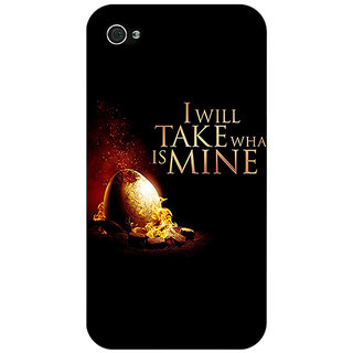 Jugaaduu Game Of Thrones GOT Khaleesi Daenerys Targaryen Back Cover Case For Apple iPhone 4 - J11543