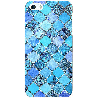 Jugaaduu Blue Moroccan Tiles Pattern Back Cover Case For Apple iPhone 5 - J20287