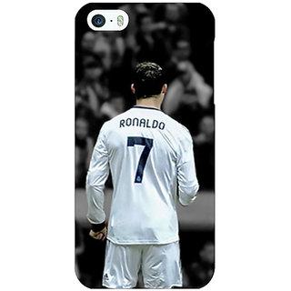 Jugaaduu Cristiano Ronaldo Real Madrid Back Cover Case For Apple iPhone 5 - J20315