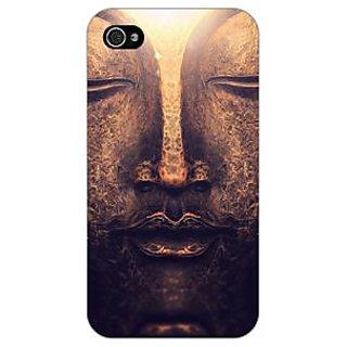 Jugaaduu Gautam Buddha Back Cover Case For Apple iPhone 4 - J11273