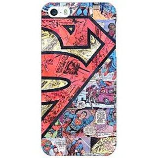 Jugaaduu Superheroes Superman Back Cover Case For Apple iPhone 5 - J20044