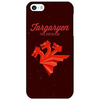 Jugaaduu Game Of Thrones GOT House Targaryen  Back Cover Case For Apple iPhone 5c - J30137