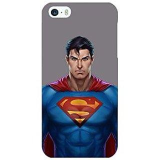 Jugaaduu Superheroes Superman Back Cover Case For Apple iPhone 5 - J20382