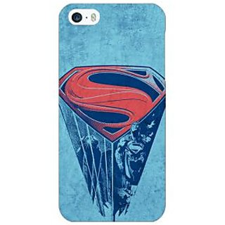 Jugaaduu Superheroes Superman Back Cover Case For Apple iPhone 5 - J20387