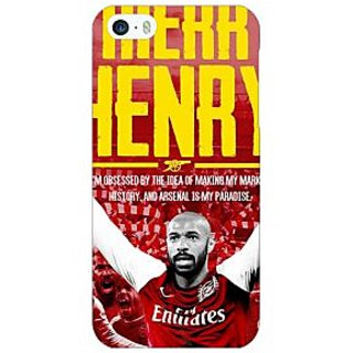 Jugaaduu Arsenal Therry Henry Back Cover Case For Apple iPhone 5 - J20502