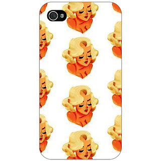 Jugaaduu Marilyn Monroe Pattern Back Cover Case For Apple iPhone 4 - J11382