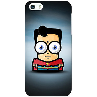 Jugaaduu Big Eyed Superheroes Superman Back Cover Case For Apple iPhone 5 - J20397