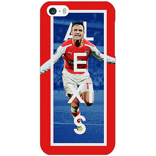 Jugaaduu Arsenal Alexis Sanchez Back Cover Case For Apple iPhone 5c - J30506