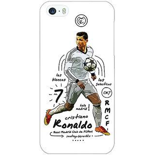 Jugaaduu Real Madrid Ronaldo Back Cover Case For Apple iPhone 5 - J20586